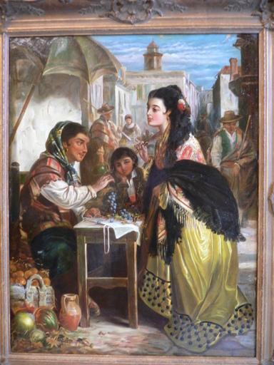 Robert KEMM - Painting - la vendedora de fruta