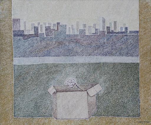 """Cristino DE VERA REYES - Painting - """"La ciudad"""""""