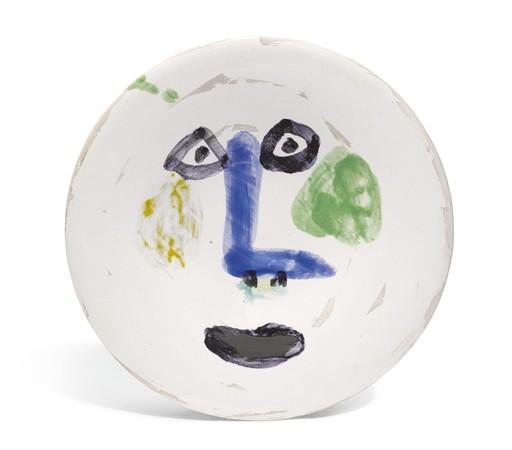 Pablo PICASSO - Ceramic - Visage nez à angle droit