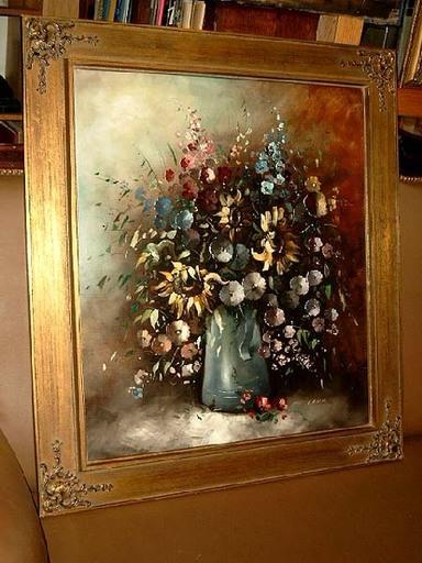 Eleonore GUINTHER - Pittura - Sommerlicher Blumenstrauß im Zinnkrug