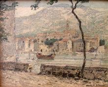 """Anton Konrad SCHMIDT - Painting - """"Südliche Landschaft"""""""