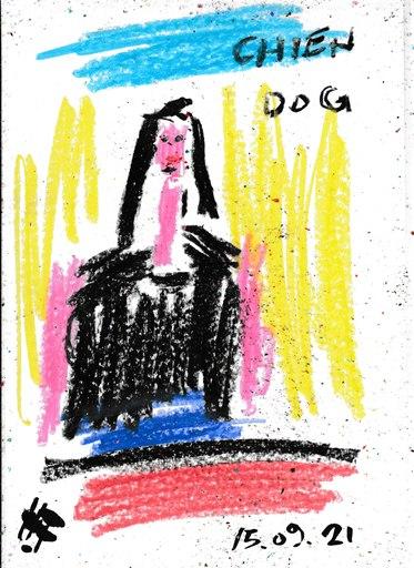 Harry BARTLETT FENNEY - Disegno Acquarello - the French lesson 2 (15 09 21)