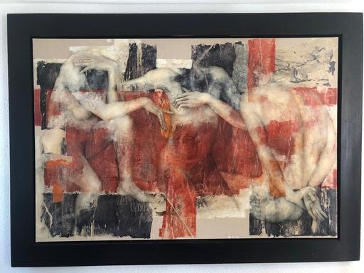 Viviane CISINSKI - Painting - Une harmonie de sous-entendus