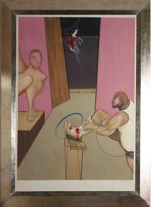 Francis BACON - Grabado - Oedipe et le Sphink