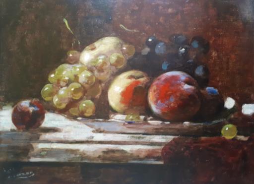 François VERNAY - Painting - Nature morte aux fruits