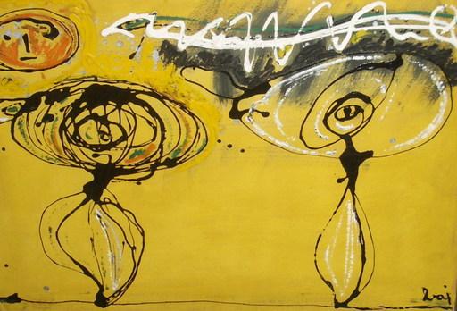 Enrico BAJ - Painting - Le plus beau du quartier