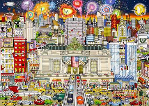 Charles FAZZINO - Print-Multiple - New York Grand celebration