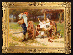 Frederick MORGAN - Painting - Apple Time