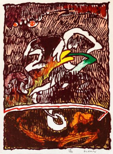 Pierre ALECHINSKY - Grabado - Great Flying Objects