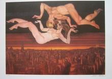 Juárez MACHADO - Print-Multiple - Couple dénudé à Paris