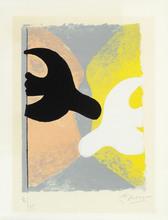 Georges BRAQUE - Estampe-Multiple - Résurrection de l' oiseau
