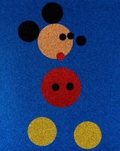 Damien HIRST - Print-Multiple - Mickey (Blue Glitter)