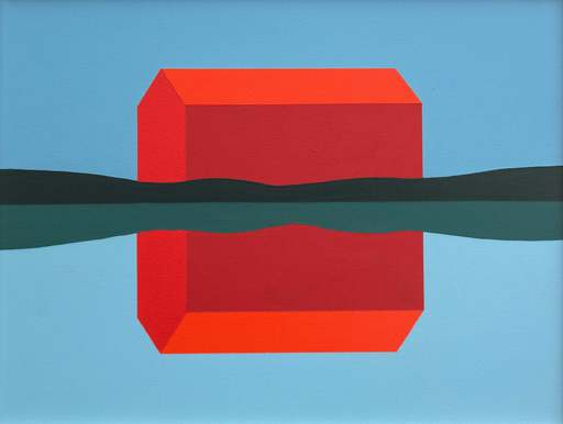 Charles PACHTER - Pittura - Red Barn Reflected