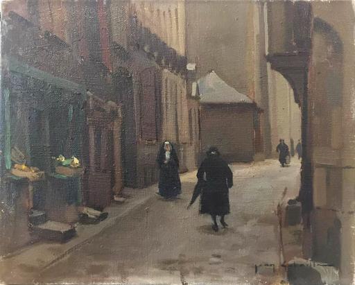 Jean GOBAILLE - Pintura - Ruelle du vieux Rennes