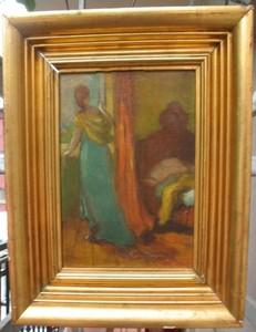 Hippolyte PETITJEAN - Pintura - Girl at the window