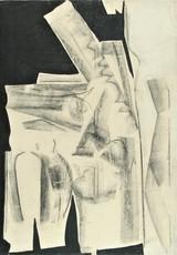 Herbert ZANGS - Peinture - OHNE TITEL - FUSAIN - 1958