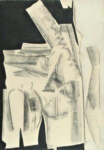 Herbert ZANGS - Pittura - OHNE TITEL - FUSAIN - 1958