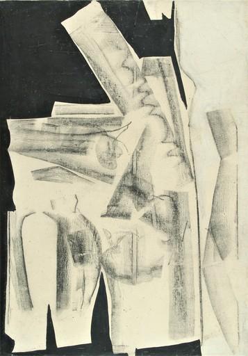 Herbert ZANGS - 绘画 - OHNE TITEL - FUSAIN - 1958