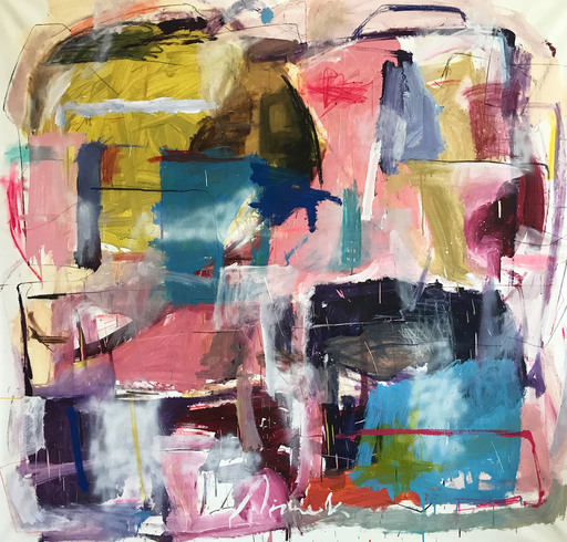 Yevgen LISNIAK - Painting - Untitled 1 (Abstract painting)