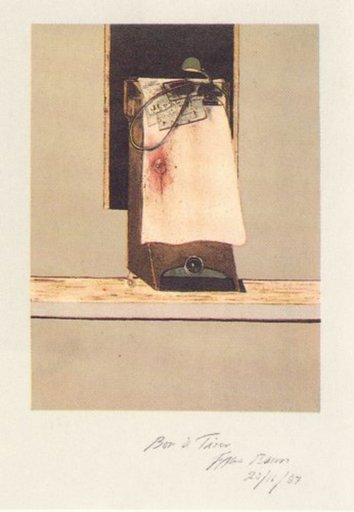 Francis BACON - Grabado - Taken from a photograph of Trotsky's study in Mexico, 1940