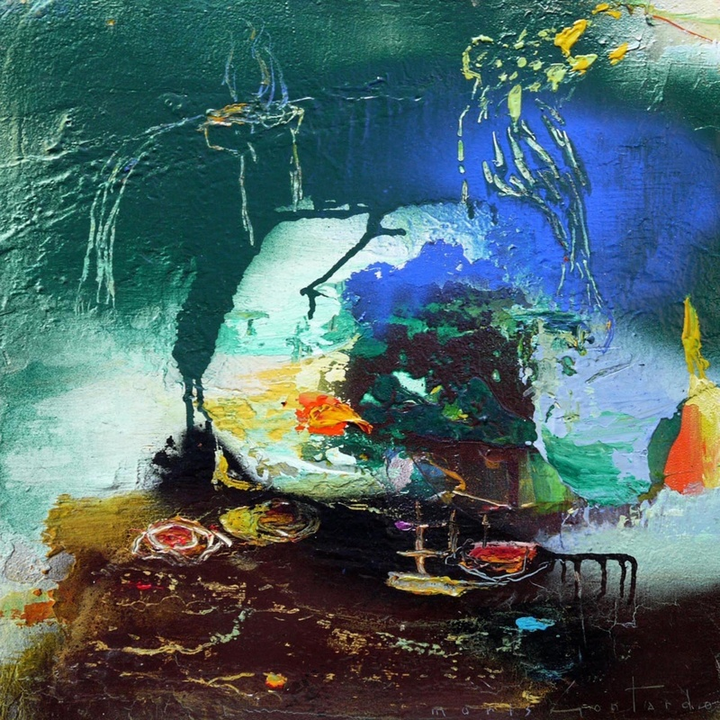 Moris GONTARD - Pintura - Jardin sur la lune