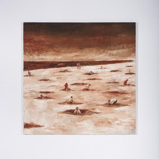 Toru KUWAKUBO - Painting - Holes and the King