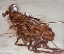Claude WEISBUCH - Peinture - LE VIOLONCELLISTE
