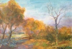 Tibor DENGYEL - Peinture - Couleurs d'Automne (Gouache)