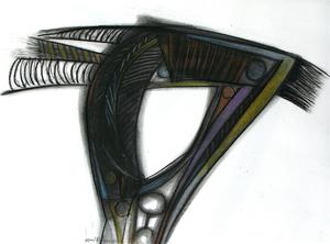 Raul Enmanuel POZO - Dibujo Acuarela - De la series Caballito IV