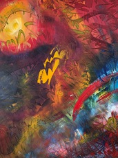 Shijo Alan BURNER - Gemälde - Masse Céleste