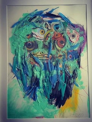 PASTURO - Painting - Sans titre