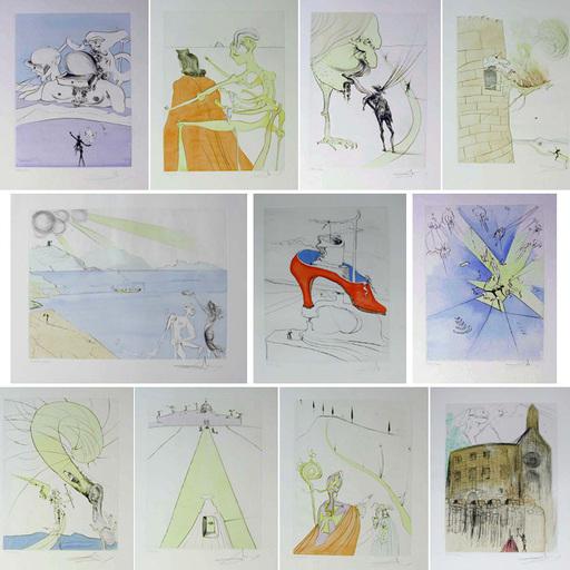 Salvador DALI - Estampe-Multiple - After 50 Years of Surrealism Portfolio