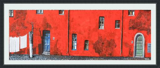 Zurab GIKASHVILI - Peinture - Red House