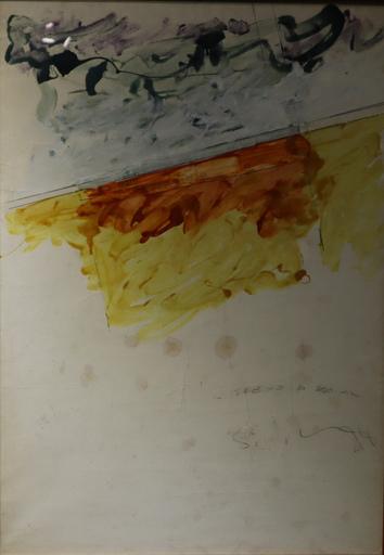 Mario SCHIFANO - Gemälde - Il treno di Dominic