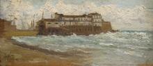 Giuseppe DE NITTIS (1846-1884) - Fortino con veduta porto