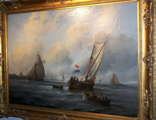 Christiaan Cornelis KANNEMANS - Painting - marine coastline vlissingen