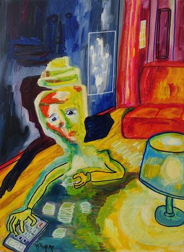 Bernard PINEAU - Painting - H144 Lobha (L'avarice)