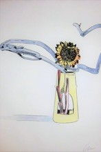 Andy WARHOL - Estampe-Multiple - Hand-Colored Flower #112