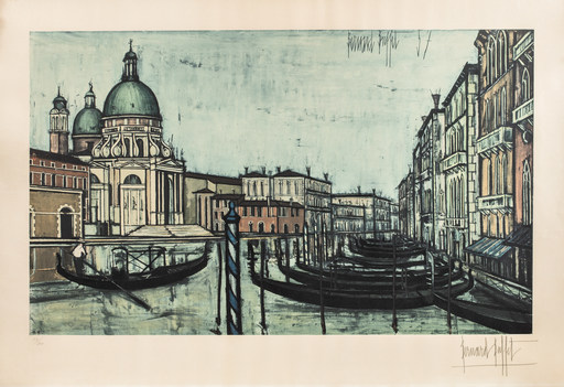 Bernard BUFFET - Estampe-Multiple - Le grand canal de Venise