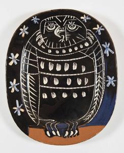 Pablo PICASSO - Céramique - Hibou brillant (A.R.285)