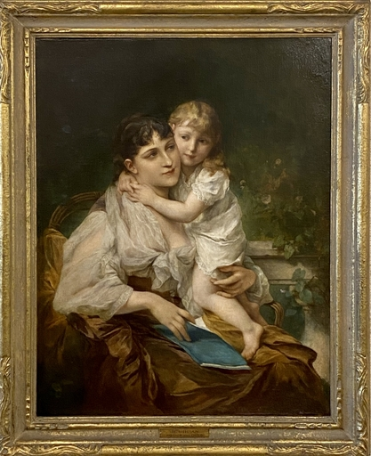 Adolphe JOURDAN - Painting - Mother and Child
