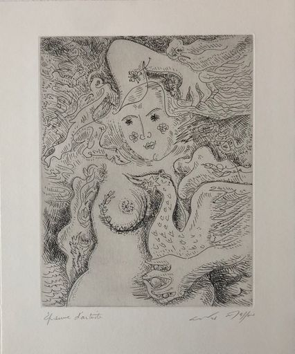 安德烈•马松 - 版画 - Léda aux trois perles