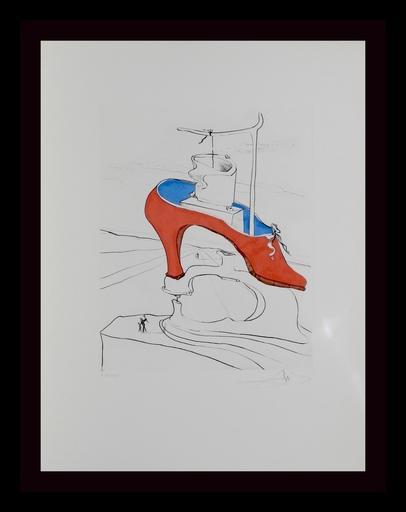Salvador DALI - Grabado - After 50 Years of Surrealism The Curse Conquered