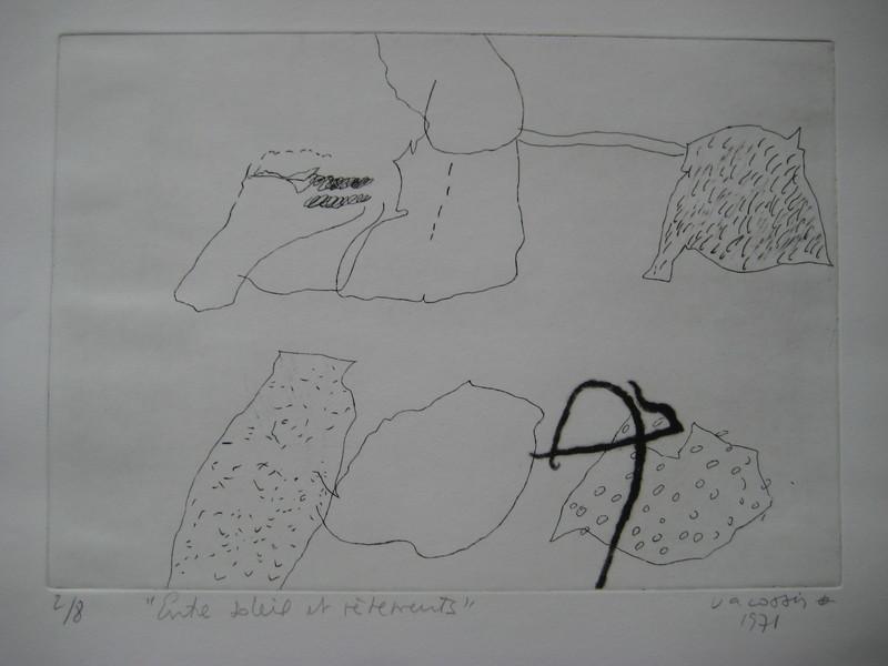 Marie-Thérèse VACOSSIN - Druckgrafik-Multiple - GRAVURE 1971 SIGNÉE AU CRAYON NUM/8 HANDSIGNED ETCHING