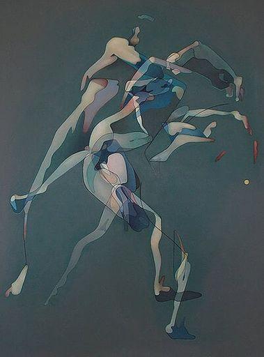 Milburn FOSTER - Peinture - Men Fighting 3