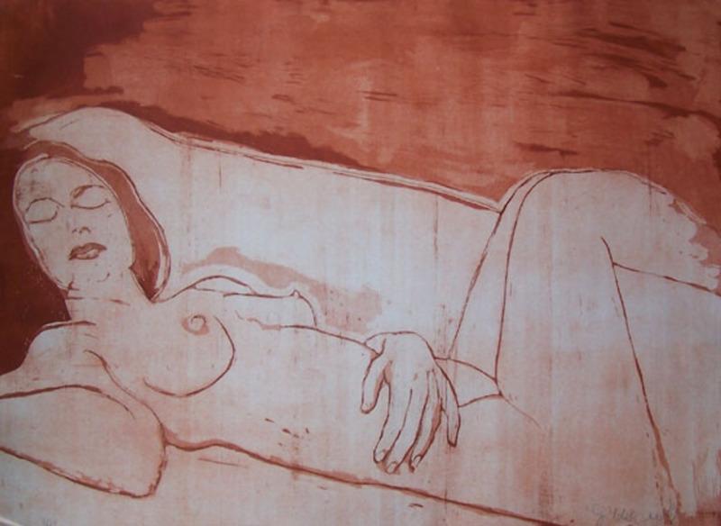 Jacob GILDOR - Print-Multiple - Sleeping Woman