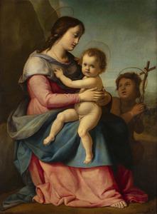 Jacopo CHIMENTI - Pintura - Madonna con Bambino