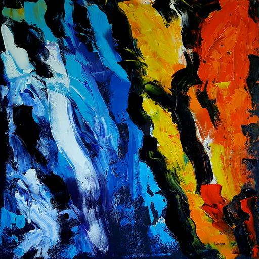 Patrick JOOSTEN - Peinture - Fireworks