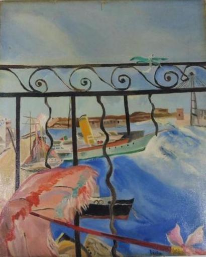 Dora BIANKA - Painting - le balcon
