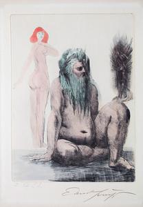 Ernst FUCHS - Druckgrafik-Multiple - 'Modell der Lilith'
